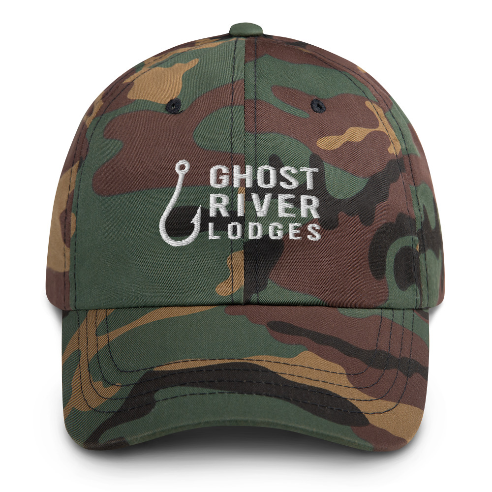 Ghost River Lodges - Dad Hat - Hook Logo - Camo