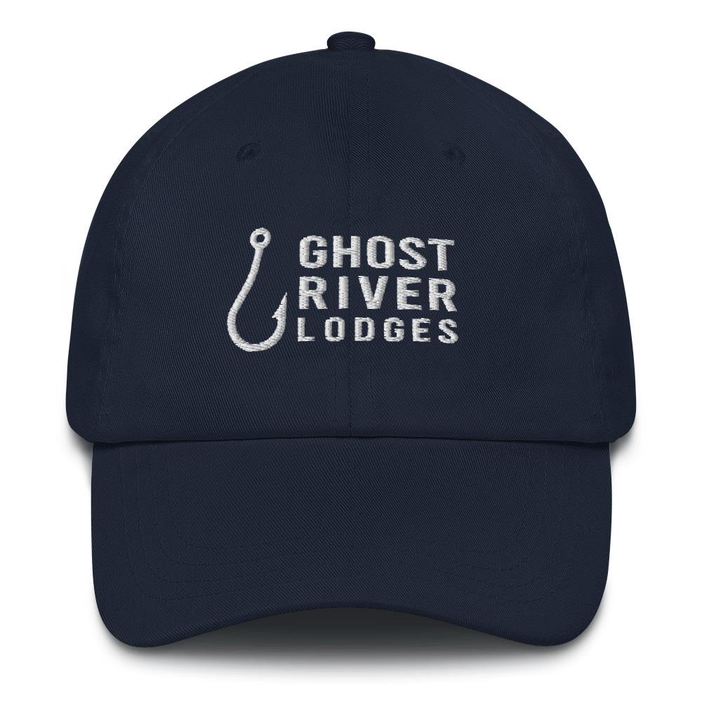 Ghost River Lodges - Dad Hat - Hook Logo - Navy