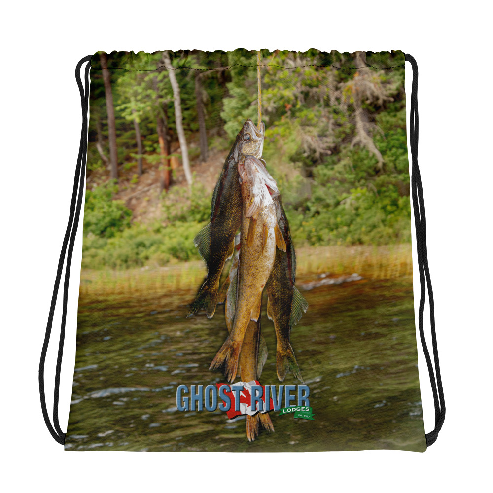 Ghost River Lodges - Drawstring Bag - Stringer - Front