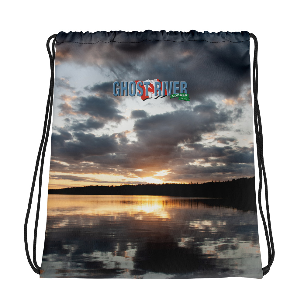 Ghost River Lodges - Drawstring Bag - Sunset - Front