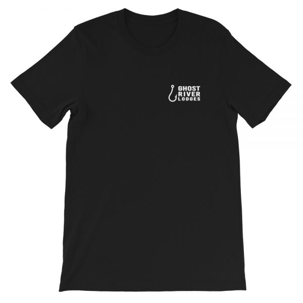 Ghost River Lodges – Ladies Black Tshirt – Flat