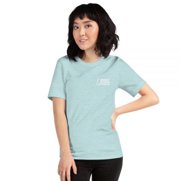 Ghost River Lodges – Ladies Ice Blue Tshirt