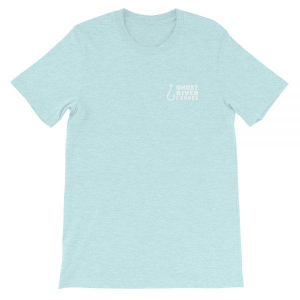 Ghost River Lodges – Ladies Ice Blue Tshirt – Flat