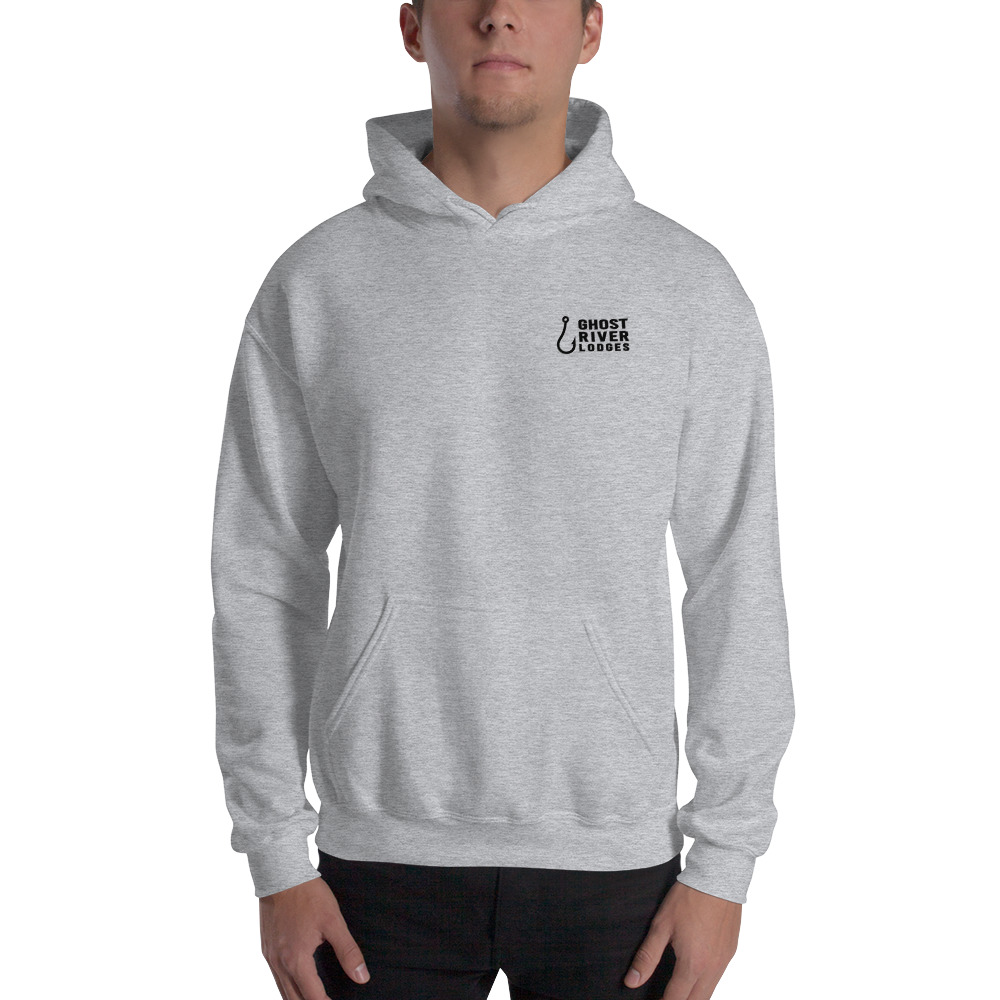 Ghost River Lodges - Mens Grey Hoodie