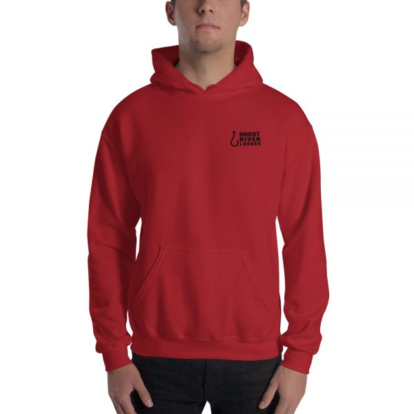 Ghost River Lodges – Mens Red Hoodie