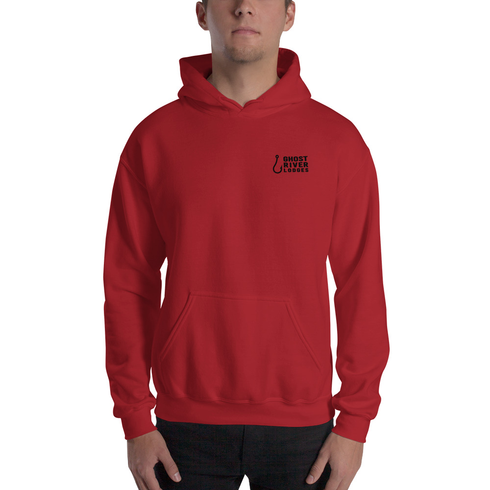 Ghost River Lodges - Mens Red Hoodie
