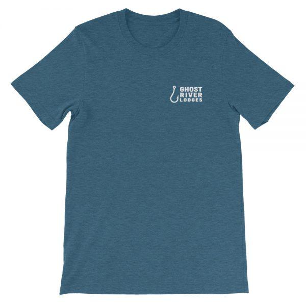 Ghost River Lodges – Mens Teal Tshirt – Flat
