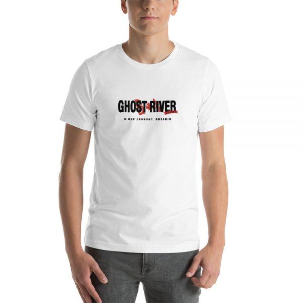 Ghost River Lodges – Mens White Classic Tshirt