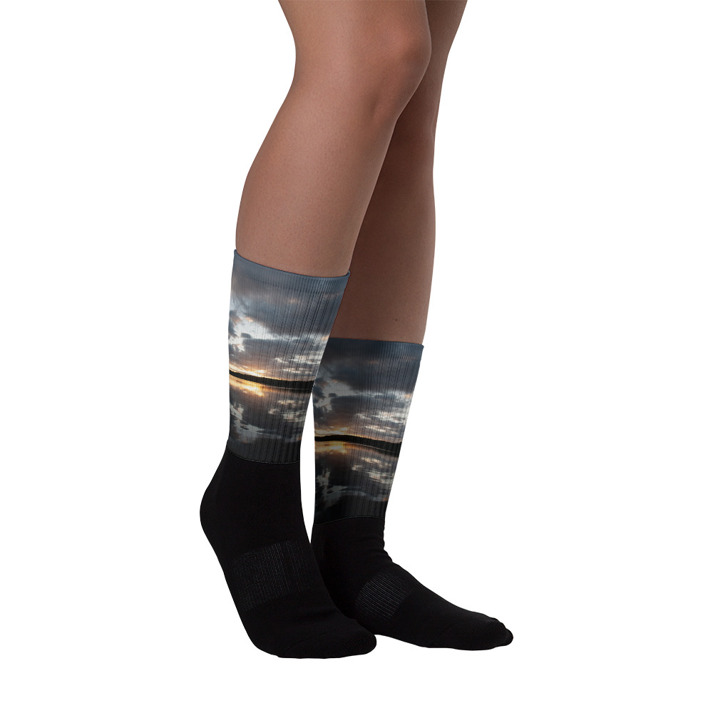 Ghost River Lodges - Socks - Sunset - Front