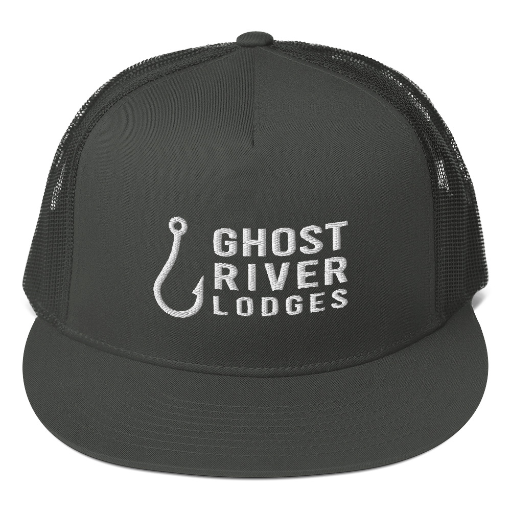 Ghost River Lodges - Trucker Hat - Hook Logo - Charcoal
