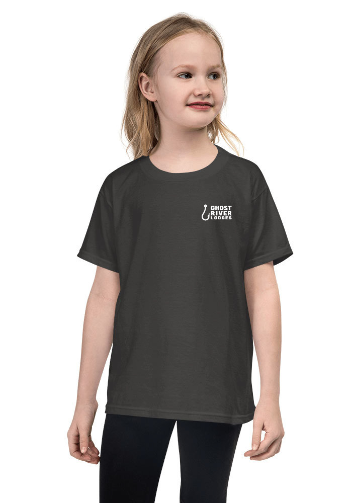 Ghost River Lodges - Youth Charcoal Tshirt